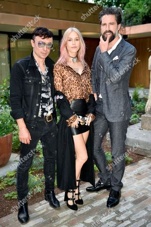 Robbie Furze, Lady Mary Charteris and Jack Guinness