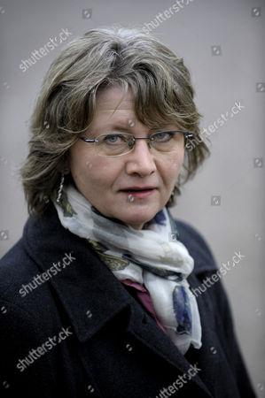 Portrait of Eva Gabrielsson Companion of Late Swedish Journalist and Writer Stieg Larsson in Stockholm Sweden 12 January 2008 Sweden Stockholm