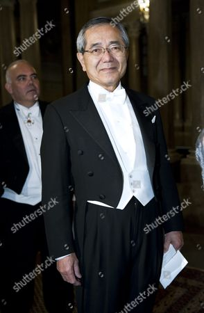 Stock Photo of Ei-ichi Negishi Laureate in Chemistry Arrives at the King's Dinner For the Nobel Laureates at the Royal Palace in Stockholm Sweden 11 December 2010 Sweden Stockholm