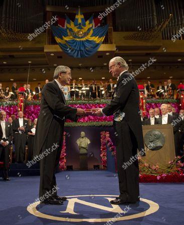 Editorial photo of Sweden Nobel Prize 2010 - Dec 2010