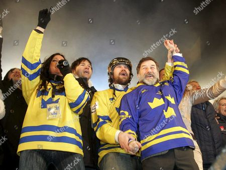 Editorial photo of Sweden Olympic Celebrations - Feb 2006