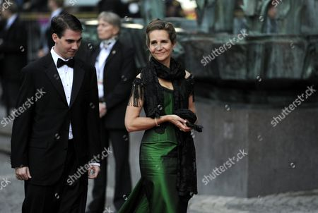 Prince Philippos of Greece and Denmark (l) and Infanta Elena of Spain (r) Arrive at the Riksdag (swedish Parliament) Gala Performance at the Stockholm Concert Hall in Stockholm Sweden 18 June 2010 the Royal Wedding of Crown Princess Victoria of Sweden and Daniel Westling Will Take Place on 19 June 2010 in Stockholm Sweden Stockholm