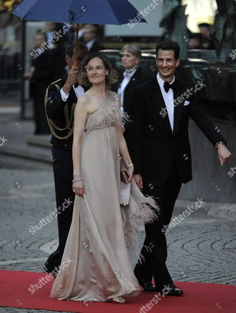 Crown Prince Alois of Liechtenstein (r) and Princess Sophie (l) Arrive at the Riksdag (swedish Parliament) Gala Performance at the Stockholm Concert Hall in Stockholm Sweden 18 June 2010 the Royal Wedding of Crown Princess Victoria of Sweden and Daniel Westling Will Take Place on 19 June 2010 in Stockholm Sweden Stockholm