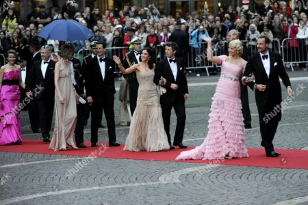 (l-r) Crown Princess Mathilde of Belgium Crown Prince Philippeof Belgium Erbprinz Alois Von Und Zu Liechtenstein Princess Sophie Crown Princess Mary of Denmark Crown Prince Frederik of Denmark Crown Princess Mette-marit of Norway and Crown Prince Haakon of Norway Arrive at the Riksdag (swedish Parliament) Gala Performance at the Stockholm Concert Hall in Stockholm Sweden 18 June 2010 the Royal Wedding of Crown Princess Victoria of Sweden and Daniel Westling Will Take Place on 19 June 2010 in Stockholm Sweden Stockholm
