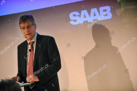 Jan Ake Jonsson Ceo of General Motors Corp 'S Swedish-based Subsidiary Saab Talks at a Press Conference in Trollhattan Sweden 20 February 2009 After Saab Went Into Bankruptcy Protection Earlier in the Day Sweden Trollhattan