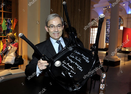 The 2010 Nobel Economics Laureate Christopher a Pissarides Citizen of Cyprus of London School of Economics and Political Science U K Signs a Chair at the Nobel Museum in Stockholm Sweden 06 December 2010 This is One of the Traditions During the Week Leading Up to the Nobel Prize Ceremony That Will Take Place in Stochkolm on 10 December Sweden Stockholm