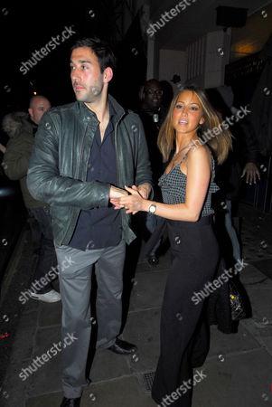 Rachel Stevens and boyfriend Alex Bourne