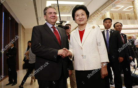 Sigmar Gabriel and Liu Yandong