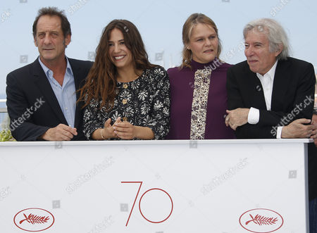 (L-R) French actor Vincent Lindon, French actress Izia Higelin, Belgium actress Severine Caneele and French director Jacques Doillon pose during the photocall for 'Rodin' during the 70th annual Cannes Film Festival, in Cannes, France, 24 May 2017. The movie is presented in the Official Competition of the festival which runs from 17 to 28 May.