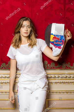 Rossella Fiamingo, ( epee fencing),  poses for a portrait during Red Bull photo shoot in Catania