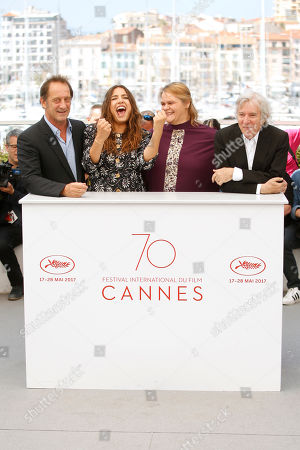 Vincent Lindon, Severine Caneele, Izia Higelin, Jacques Doillon Actors Vincent Lindon, from left, Severine Caneele, Izia Higelin and director Jacques Doillon pose for photographers during the photo call for the film Rodin, at the 70th international film festival, Cannes, southern France