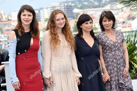 Stock Picture of The director Anna Zambrano and cast Barbora Bobulova, Charlotte Cetaire, Maryline Canto