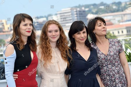 The director Anna Zambrano and cast Barbora Bobulova, Charlotte Cetaire, Maryline Canto