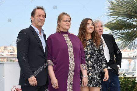 Vincent Lindon, Izia, Severine Caneele, the director Jacques Doillon