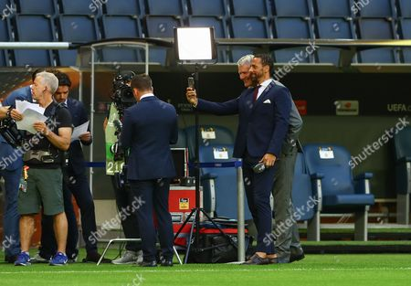 Rio Ferdinand and David Gill take a selfie  during the UEFA Europa League Final between Ajax and Manchester United played at The Friends Arena, Stockholm, Sweden on 24th May 2017