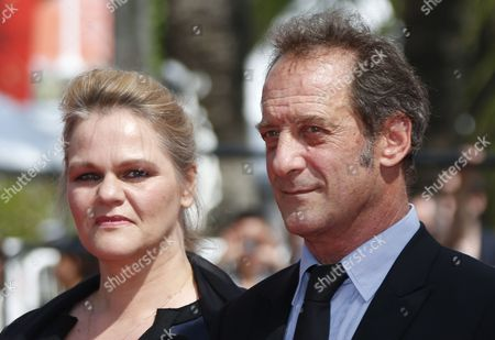 Belgium actress Severine Caneele (L) and French actor Vincent Lindon arrive for the premiere of 'Rodin' during the 70th annual Cannes Film Festival, in Cannes, France, 24 May 2017. The movie is presented in the Official Competition of the festival which runs from 17 to 28 May.
