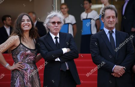 (R-L) French actor Vincent Lindon, French director Jacques Doillon and French actress Izia Higelin arrive at the premiere for 'Rodin' during the 70th annual Cannes Film Festival, in Cannes, France, 24 May 2017. The movie is presented in the Official Competition of the festival which runs from 17 to 28 May.