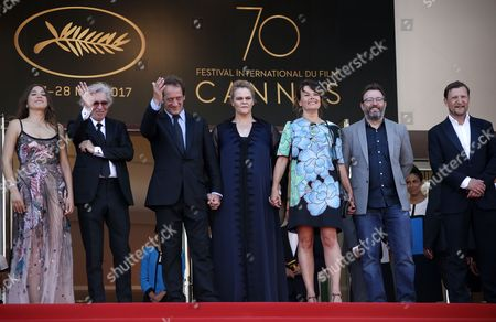 (R-L) Belgium actress Severine Caneele, French actor Vincent Lindon, French director Jacques Doillon, French actress Izia Higelin and guests arrive at the premiere for 'Rodin' during the 70th annual Cannes Film Festival, in Cannes, France, 24 May 2017. The movie is presented in the Official Competition of the festival which runs from 17 to 28 May.