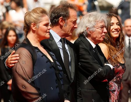 Severine Caneele, Vincent Lindon, Jacques Doillon, Izia Higelin Actors Severine Caneele, left, Vincent Lindon, director Jacques Doillon and actress Izia Higelin, at right, pose for photographers upon arrival at the screening of the film Rodin at the 70th international film festival, Cannes, southern France
