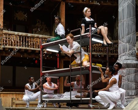 Nandi Bhebhe (Fabian), Carly Bawden (Maria), Katy Owen (Malvolio)