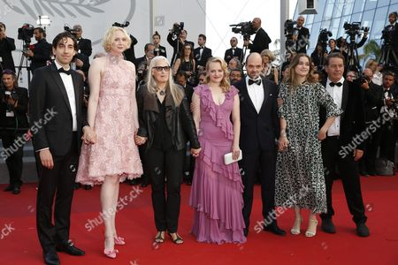 The cast from 'Top Of The Lake: China Girl',  Gwendoline Christie, Jane Campion, Elisabeth Moss, Ariel Kleiman and guests arrive for the premiere of 'The Beguiled' during the 70th annual Cannes Film Festival, in Cannes, France, 24 May 2017. The movie is presented in the Official Competition of the festival which runs from 17 to 28 May.