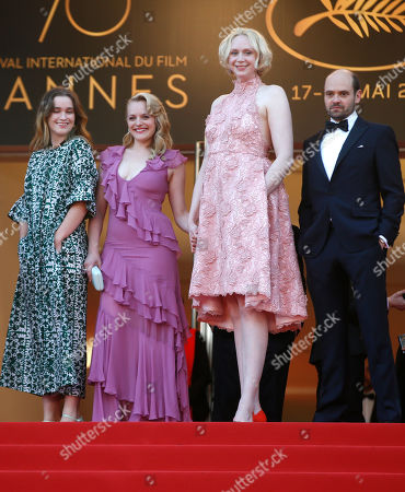 Alice Englert, David Dencik, Gwendoline Christie, Elisabeth Moss Actors Alice Englert, from left, Elisabeth Moss, Gwendoline Christie and David Dencik pose for photographers upon arrival at the screening of the film The Beguiled at the 70th international film festival, Cannes, southern France