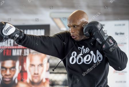 Editorial photo of Linton Vassell portrait session, London Shootfighters, UK - 16 May 2017