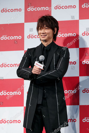 Actor Go Ayano attends the launch event for 8 new mobile devices for the summer lineup, Tokyo, Japan.