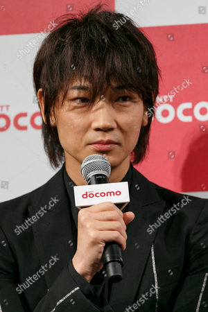 Actor Go Ayano speaks during the launch event for 8 new mobile devices for the summer lineup, Tokyo, Japan.