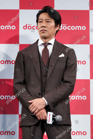 Actor Shinichi Tsutsumi attends the launch event for 8 new mobile devices for the summer lineup of NTT DoCoMo, Tokyo, Japan.