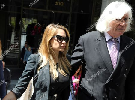 Dani Mathers, Dani Mathers, Tom Mesereau Model and Playboy bunny Dani Mathers and her attorney Tom Mesereau leave Los Angeles County Superior Court, after pleading no contest to charges related to her taking a photo of a naked, 71-year-old woman in a gym locker room and posting it on social media with insults about the woman's body. She was sentenced to probation and 30 days community service