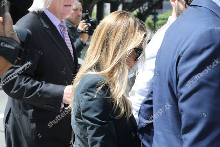 Stock Picture of Dani Mathers, Dani Mathers, Tom Mesereau Model and Playboy bunny Dani Mathers leaves Los Angeles County Superior Court, after pleading no contest to charges related to her taking a photo of a naked, 71-year-old woman in a gym locker room and posting it on social media with insults about the woman's body. She was sentenced to probation and 30 days community service