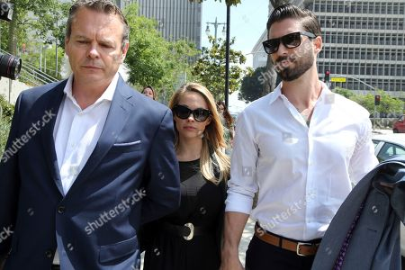 Dani Mathers, Dani Mathers, John Connor Model and Playboy bunny Dani Mathers and her fiancé John Connor, right, leave Los Angeles County Superior Court, after pleading no contest to charges related to her taking a photo of a naked, 71-year-old woman in a gym locker room and posting it on social media with insults about the woman's body. She was sentenced to probation and 30 days community service