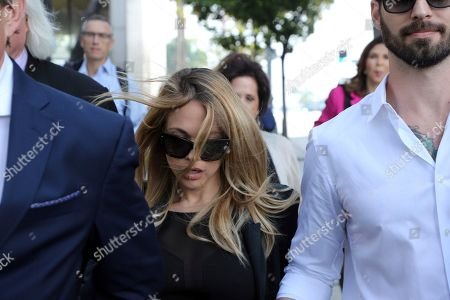 Stock Image of Dani Mathers, Dani Mathers, Tom Mesereau Model and Playboy bunny Dani Mathers leaves Los Angeles County Superior Court, after pleading no contest to charges related to her taking a photo of a naked, 71-year-old woman in a gym locker room and posting it on social media with insults about the woman's body. She was sentenced to probation and 30 days community service