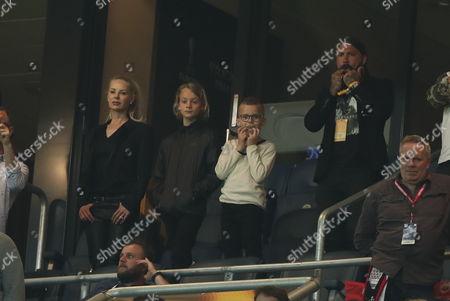 Helena Seger, Maximilian Ibrahimovic, Vincent Ibrahimovic and Alexander Östlund