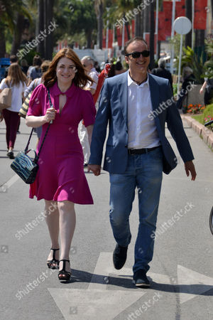 Editorial image of Emilie Doquenne and Michael Ferracci out and about, 70th Cannes Film Festival, France - 24 May 2017