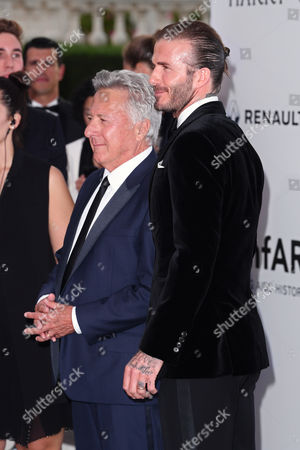 Dustin Hoffman and David Beckham