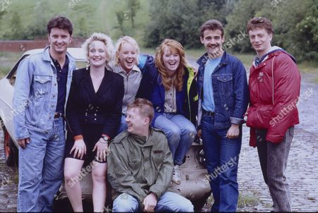 Stuart Wolfenden (as Mark Casey), Michelle Holmes (as Tina Fowler), Sally Dynevor (as Sally Webster), Kevin Kennedy (as Curly Watts), Sally Ann Matthews (as Jenny Bradley), Michael Le Vell (as Kevin Webster) and Sean Wilson (as Martin Platt)