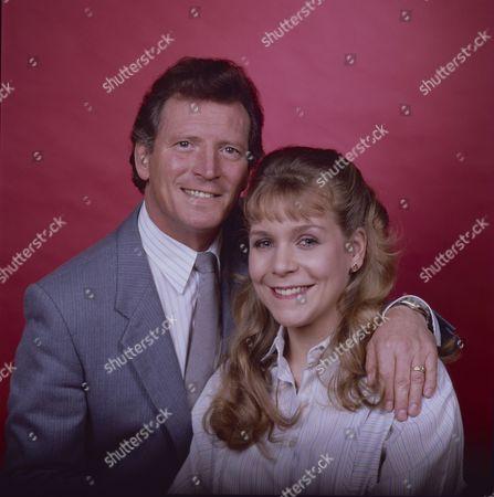 Stock Photo of Johnny Briggs (as Mike Baldwin) and Wendy Jane Walker (as Susan Baldwin)