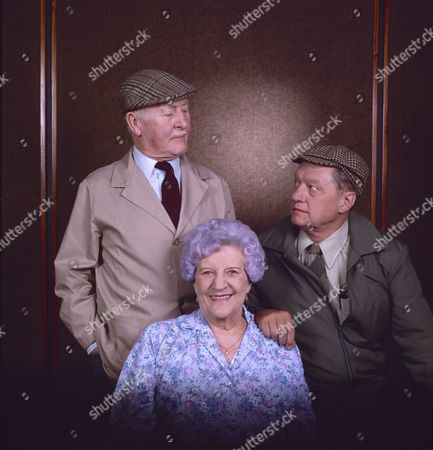 Stock Picture of Bill Waddington (as Percy Sugden), Jill Summers (as Phyllis Pearce) and Tom Mennard (as Sam Tindall)