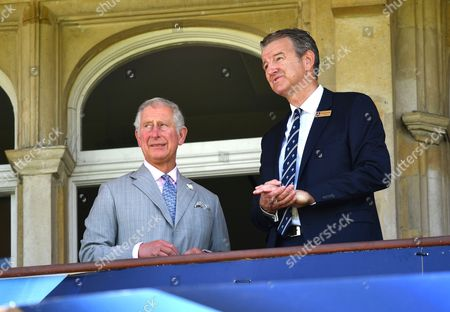 Prince Charles, Surrey County Cricket Club Chairman Richard Thompson