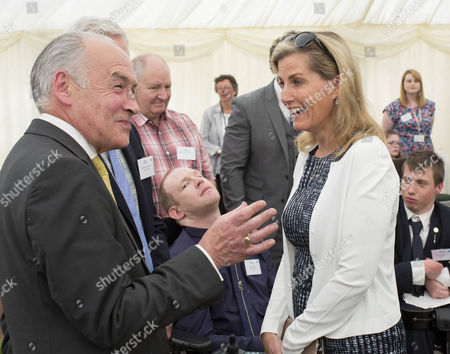 Sophie Countess of Wessex with ITN's Alistair Stewart.