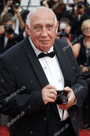 Stock Image of French photographer Raymond Depardon arrives for the screening of 'Twin Peaks ' during the 70th annual Cannes Film Festival, in Cannes, France, 25 May 2017. The series is presented out of competition at the festival which runs from 17 to 28 May.