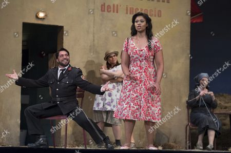 Pretty Yende as Adina, Paolo Bordogna as Belcore