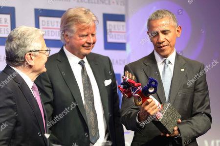 Joachim Gauck, Karlheinz Koegel and Barack Obama