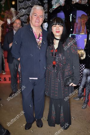 Tim Blanks and Anna Sui