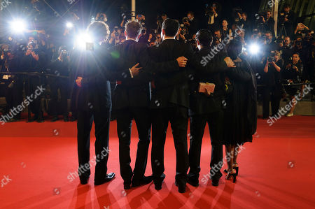 Robert Pattinson, Buddy Duress, Taliah Webster, Benny Safdie, Josh Safdie Director Josh Safdie, left, actor Robert Pattinson, director Benny Safdie, actor Buddy Duress, and actress Taliah Webster, pose for photographers upon arrival at the screening of the film Good Time at the 70th international film festival, Cannes, southern France