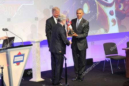 Joachim Gauck Karlheinz Koegel and Barack Obama