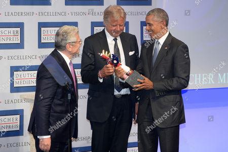 Stock Photo of Karlheinz Koegel, Barack Obama and Joachim Gauck