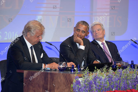 Stock Image of Karlheinz Koegel, Barack Obama and Joachim Gauck